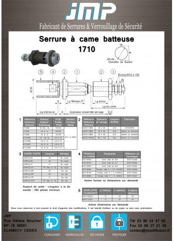 Serrure à came batteuse 1710-98 - Plan Technique