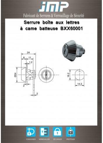 Serrure à came batteuse BXX60001 - Plan Technique
