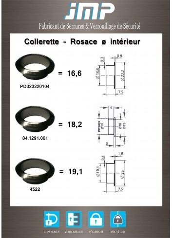 Collerette - Rosace 04.1291.001- Ø intérieur  18,2 - Plan Technique