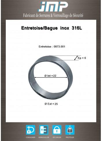 Entretoise/Bague Inox 316L - 0873.001 - Plan Technique