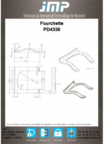 Fourchette PD4336 - Plan Technique