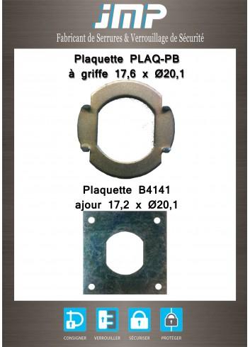 Plaquette B4141- ajour 17,2 X 20,1 - Plan Technique