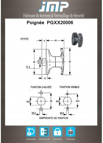 Mini Poignée PGXX20006 - Plan Technique