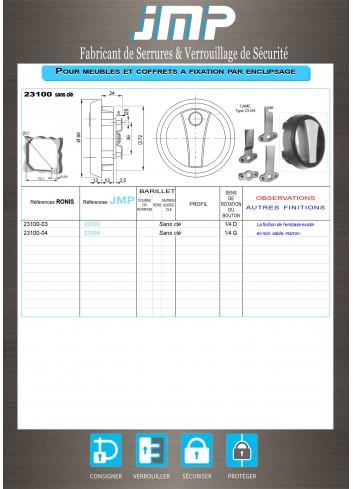 Poignée ronde 23100-03 / 23100-04 - Plan Technique