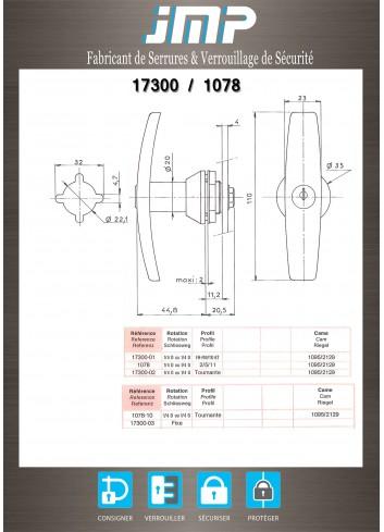 Poignée T 1078-15 - Plan Technique