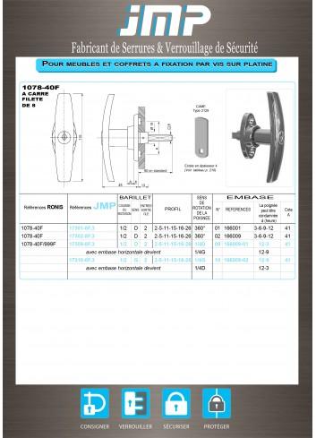 Poignée T 1078-40 - Plan Technique