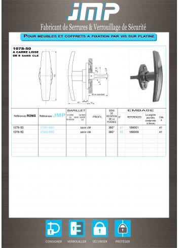 Poignée T 1078-50 - Plan Technique