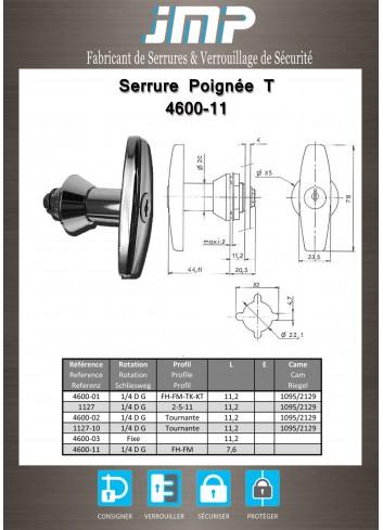 Poignée T 4600-11 - Plan Technique