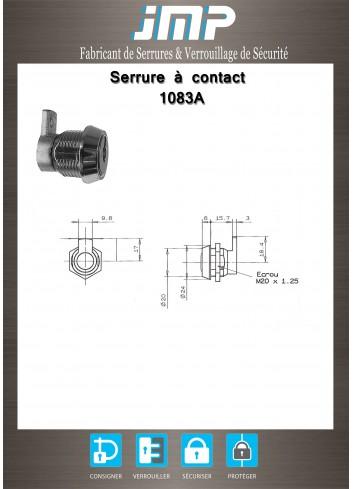 Serrure à contact 1083A - Plan Technique