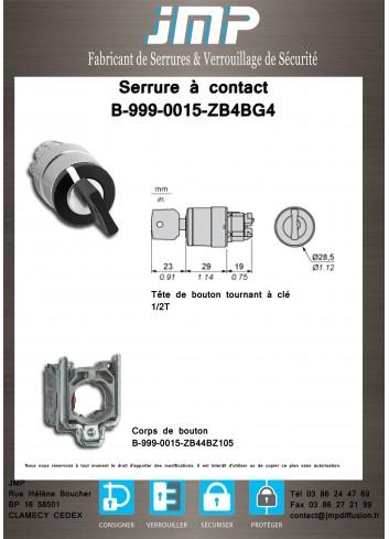 Serrure à contact B-999-0015-ZB4BG4 - Plan Technique