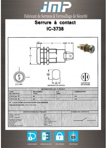 Serrure à contact IC-3738 - Plan Technique