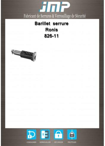 Barillet serrure Ronis 826-11 - Plan Technique