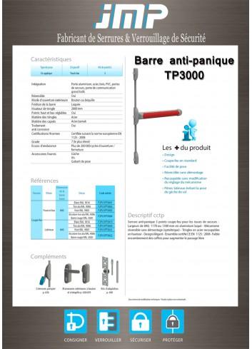 Serrure anti-panique TP3000 - Plan Technique