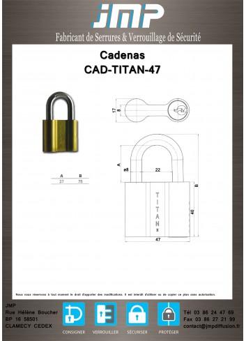 Cadenas CAD-TITAN-47 - Plan Technique