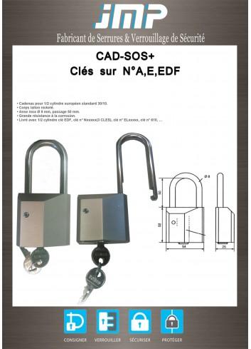 Cadenas SOS+ sur clés N° A, E , EDF - Plan Technique