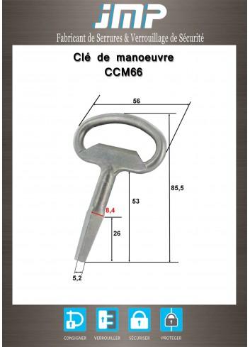 Clé CCM66 carré mâle de 6 - Plan Technique