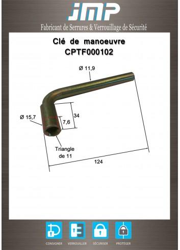Clé CPTF000102 coudée triangle de 11 - Plan Technique