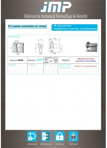 1/2 Cylindre Européen 1327/998 - Plan Technique