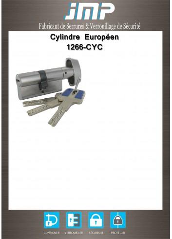 Cylindre serrure 1266-CYC bouton clé sécurisée breveté carte de propriété ClamecY Clé - Plan Technique