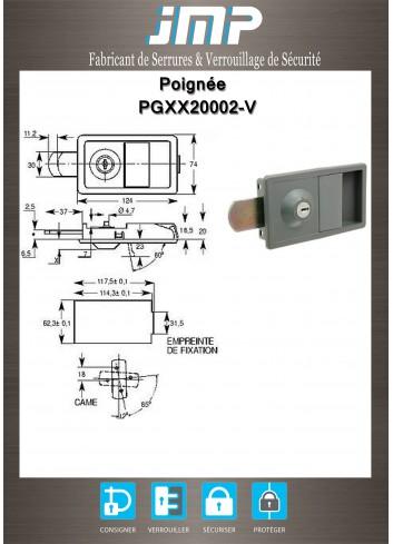 Poignée à palette PGXX20002-V - Plan Technique
