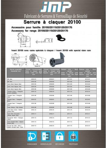 Serrure à claquer coffret électrique 20101 - Plan Technique