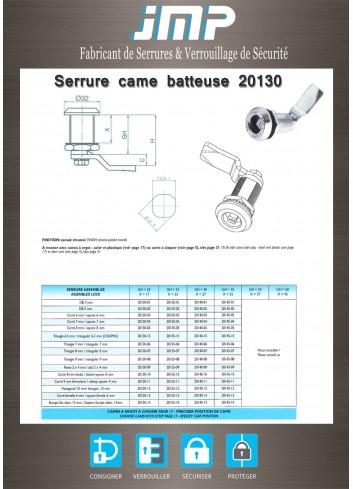 Serrure came batteuse 20130 - Gamme électrique - Plan Technique