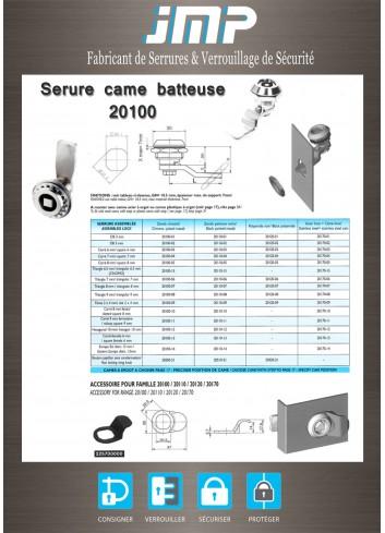Serrure came batteuse 20100 - Gamme électrique - Plan Technique