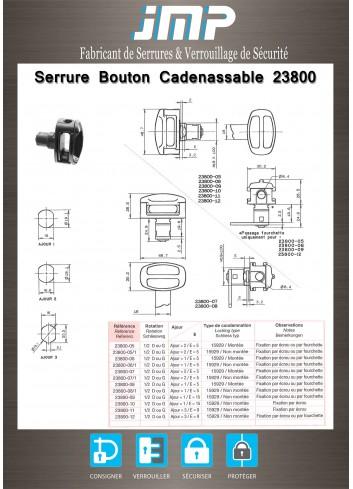 Bouton cadenassable 23800-07 - Plan Technique