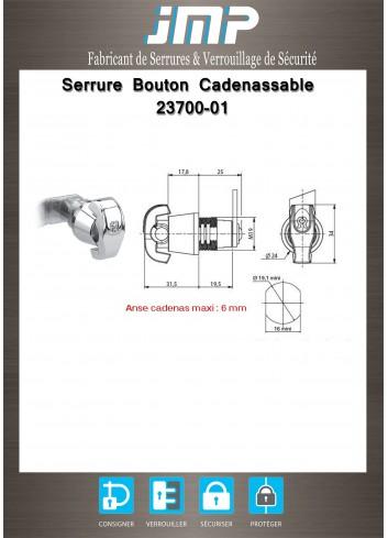 Bouton débrayable cadenassable 23700-01 - Plan Technique