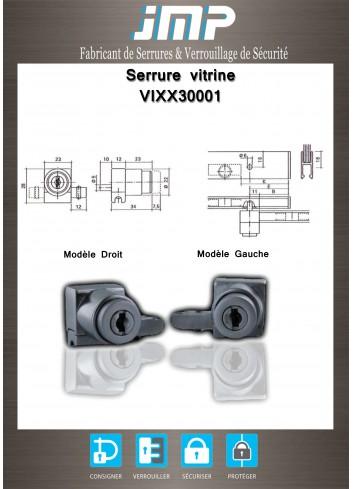 Serrure vitrine VIXX30001 - Plan Technique