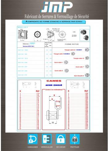 Serrure inox B00118F - Plan Technique