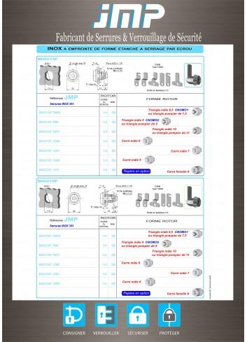 Serrure inox B00213F - Plan Technique