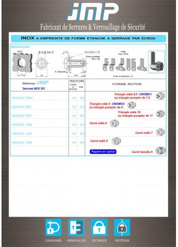 Serrure inox B00232F - Plan Technique