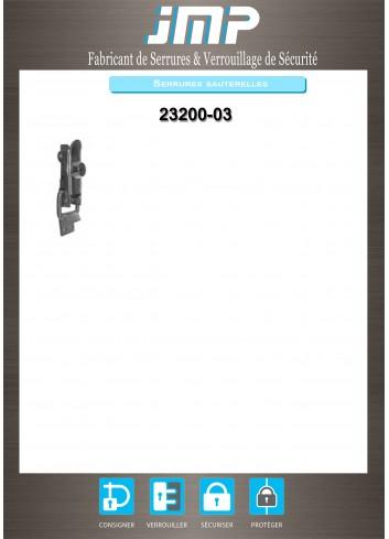 Serrure sauterelle 23200-03 - Plan Technique