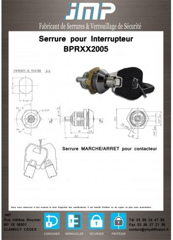 Serrure pour interrupteur BPRXX2005 - Plan Technique