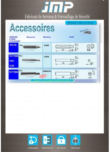 Serrure à pêne coulissant Accessoire 219005 - Plan Technique