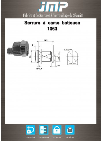 Serrure à came batteuse 1063 - Plan Technique