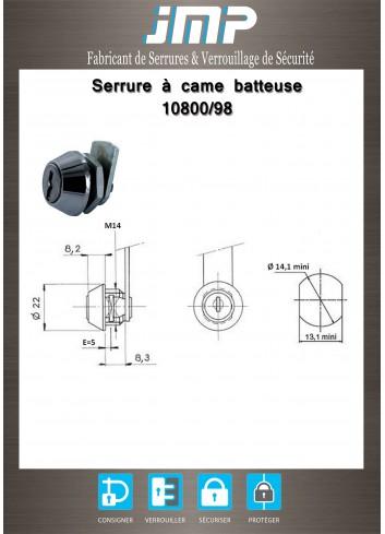 Serrure batteuse 10800/98 - Plan Technique