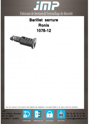 Barillet serrure Ronis 1078-12 - Plan Technique