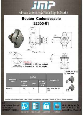 Bouton cadenassable 22500-01 - Plan Technique