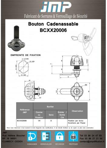 Bouton cadenassable BCXX20006 - Plan Technique