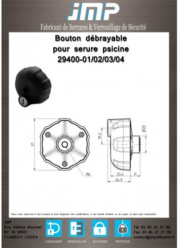 Bouton débrayable 29400-01,02 - Plan Technique