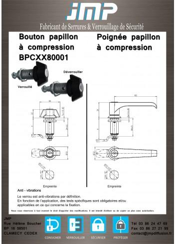 Bouton papillon à compression BPCXX80001 - Plan Technique