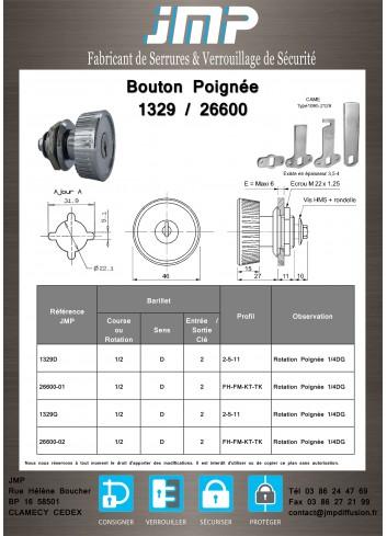 Bouton poignée agencement 1329 - Plan Technique
