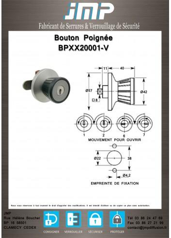 Bouton poignée agencement BPXX20001-V - Plan Technique