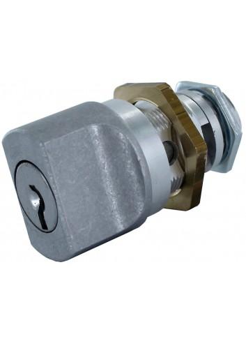 Bouton verrou 1247-999-ALU serrure coffret électrique  20*M22 Lg18 (EDF1300-1400)