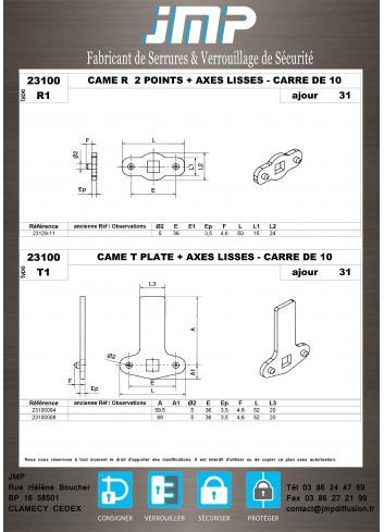 Cames 23100 - Plan Technique 1