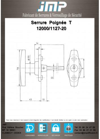 Poignée T 12000-01 - Plan Technique 1