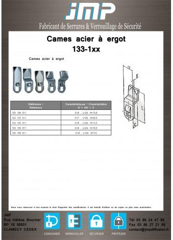 Cames 133-1xx acier avec ergot - gamme électrique - Plan Technique