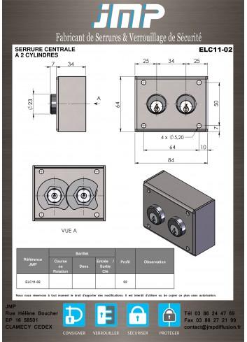 Serrure Interverouillage ELC11-02 consigneurs de clés - Plan Technique